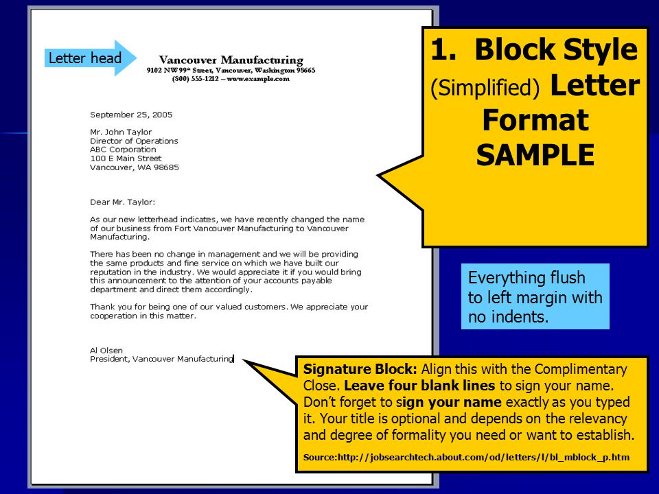 Letter writing reading and thoughtfully corresponding ppt video simplified letter format spiritdancerdesigns Gallery