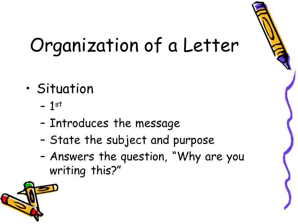 Organization of a Letter