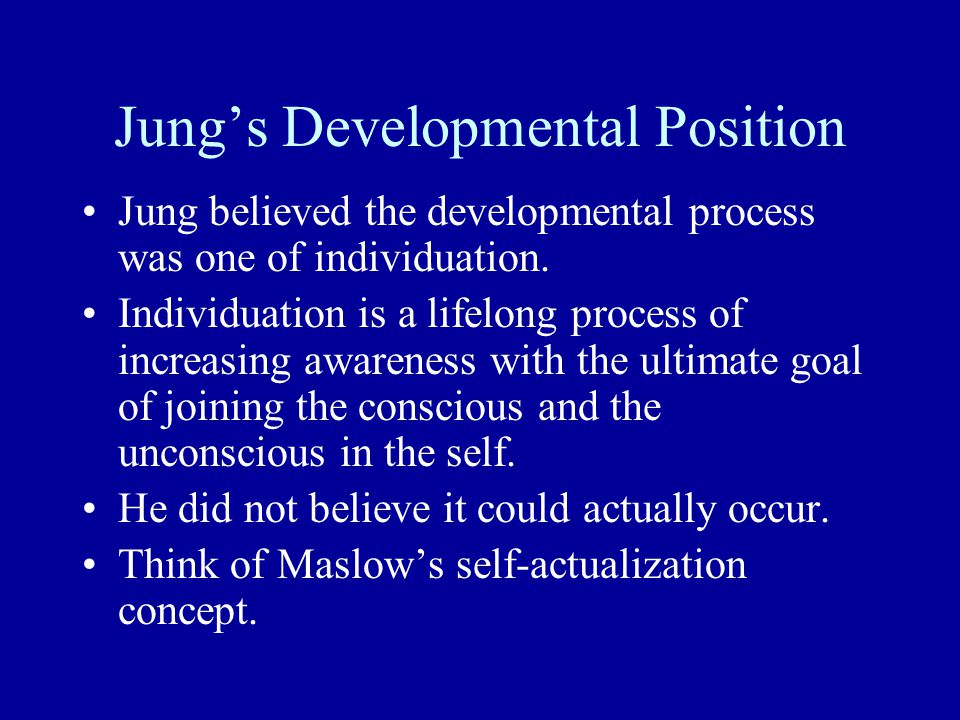 Jung's Developmental Position