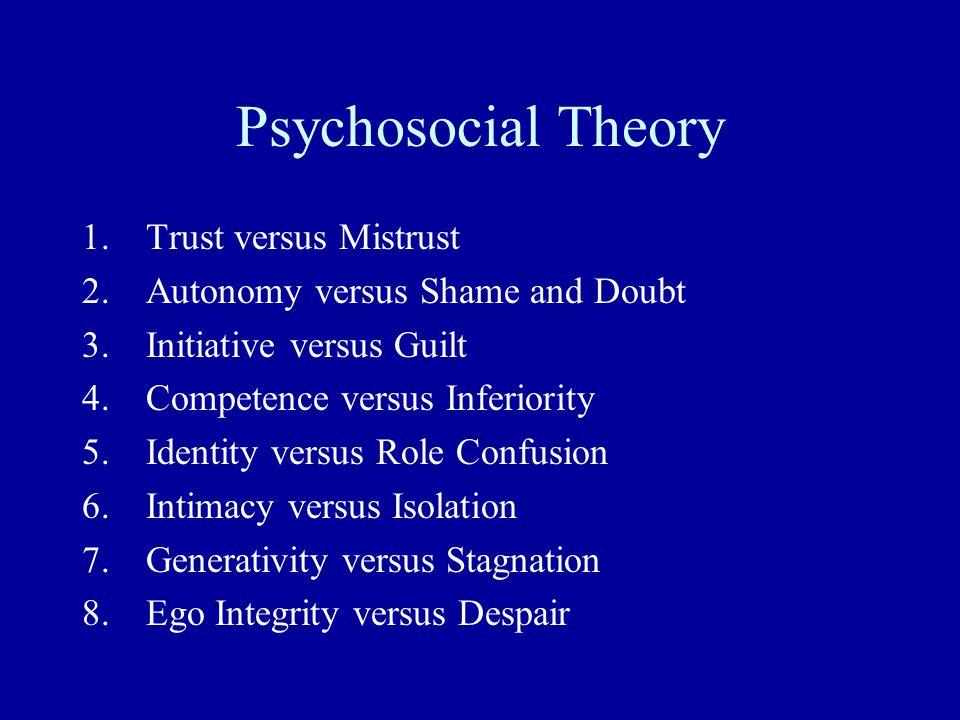 Psychosocial Theory Trust versus Mistrust
