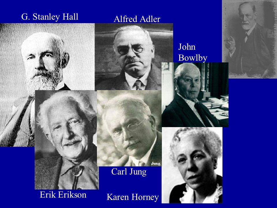 G. Stanley Hall Erik Erikson Carl Jung Alfred Adler John Bowlby Karen Horney