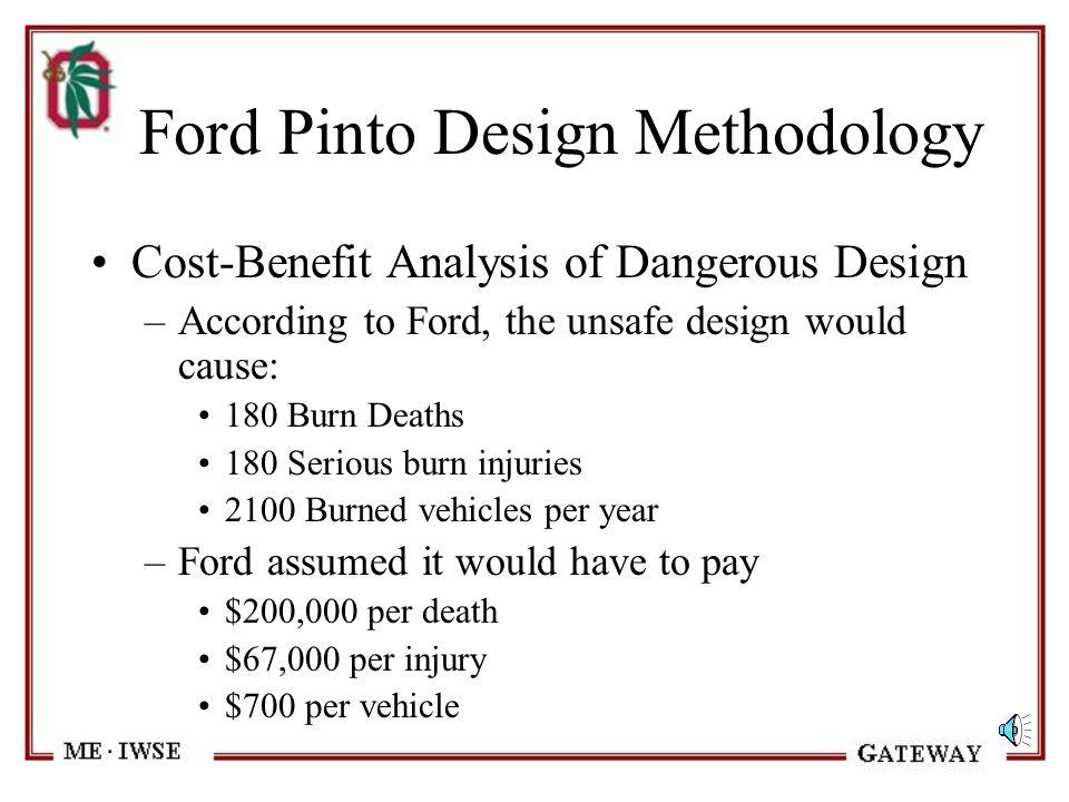 Ford Pinto Design Methodology