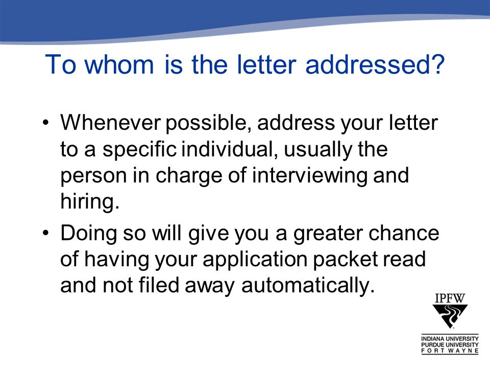To whom is the letter addressed