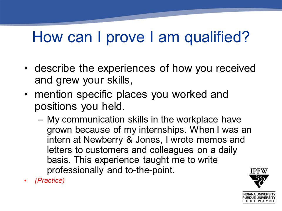 How can I prove I am qualified