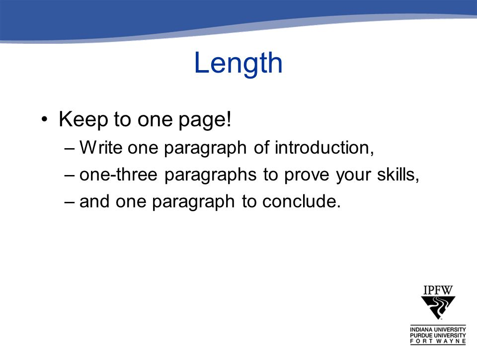 Length Keep to one page! Write one paragraph of introduction,