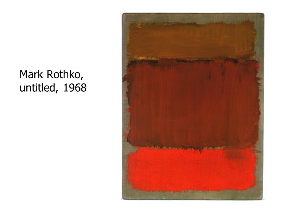 Mark Rothko, untitled, 1968