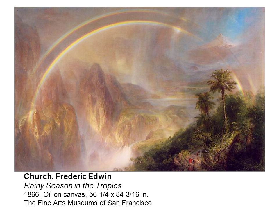(1826-1900) Hudson River School. Frederic Edwin Church, born in Hartford, Connecticut,