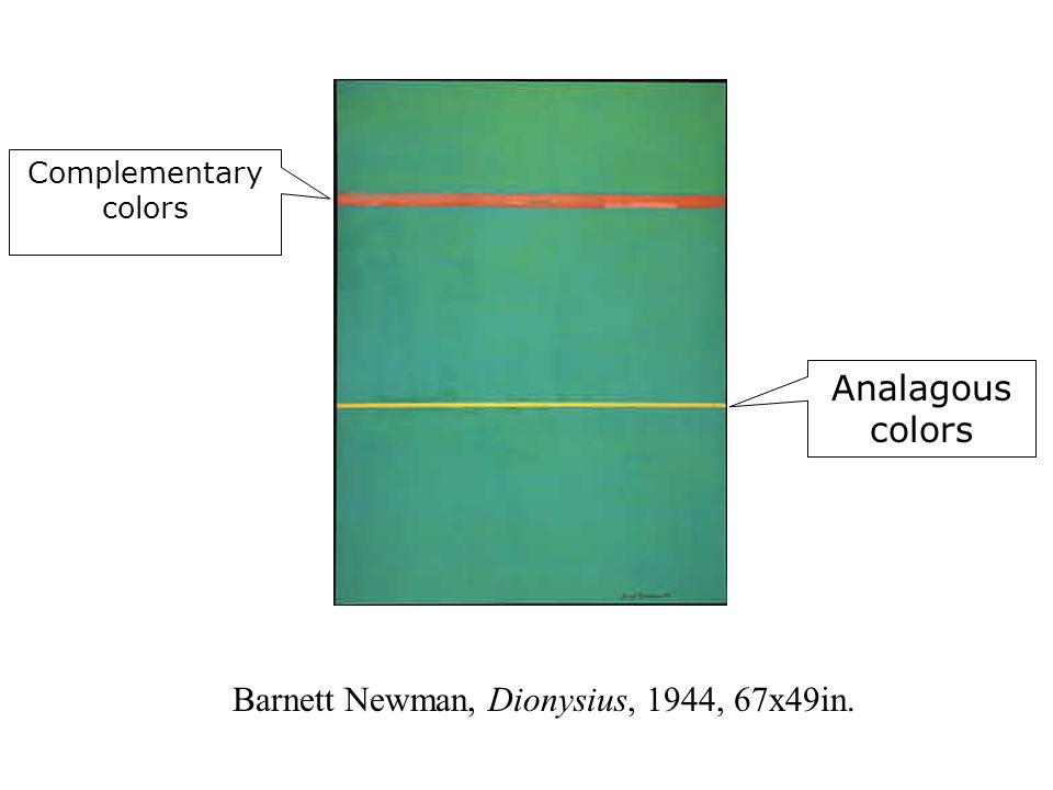 Barnett Newman, Dionysius, 1944, 67x49in.