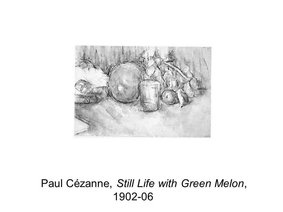 Paul Cézanne, Still Life with Green Melon, 1902-06 BW