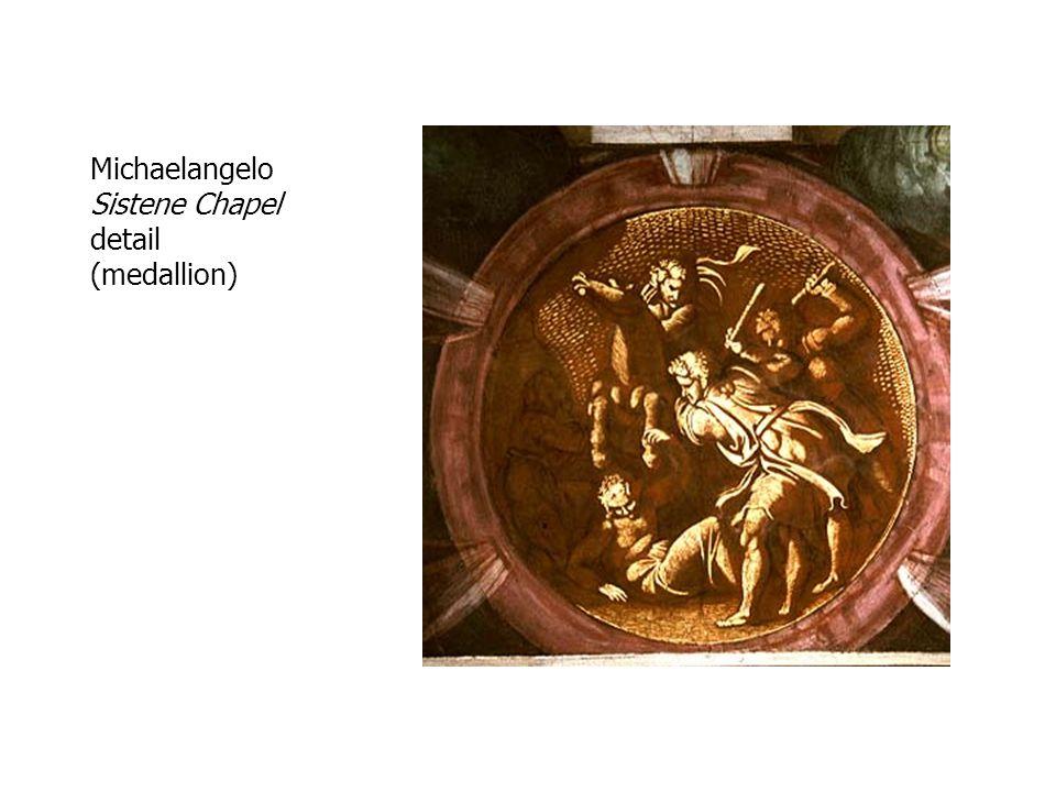 Michaelangelo Sistene Chapel detail (medallion)