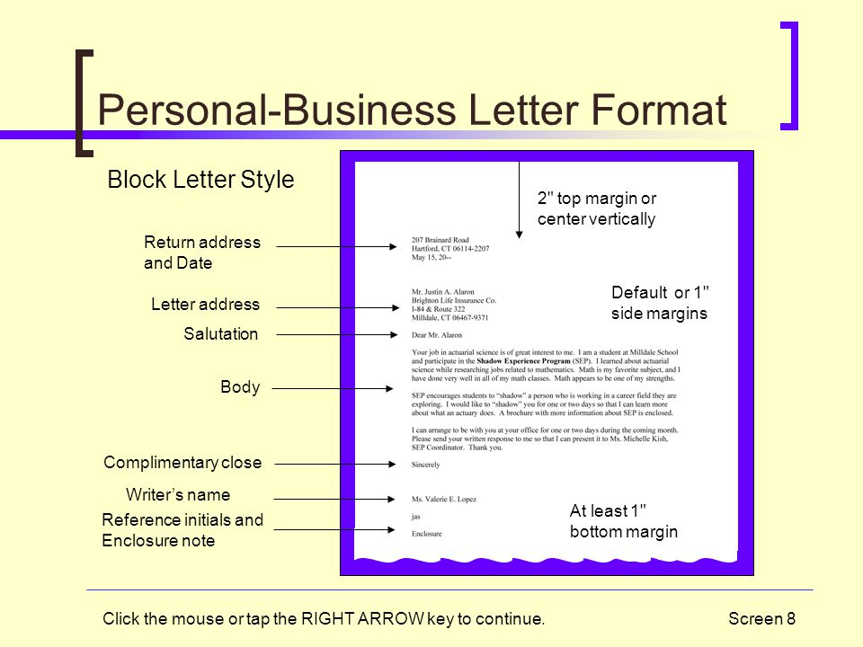 Personal-Business Letter Format