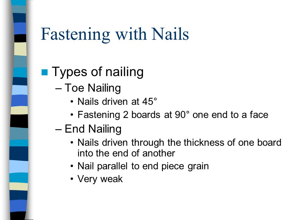 types of nails fastening wood unit 10 pages ppt video online download