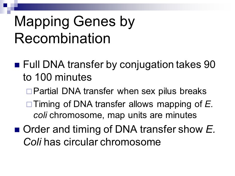 Mapping Genes by Recombination