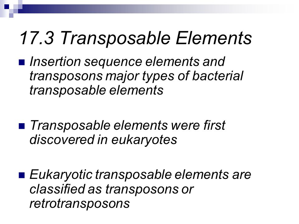 17.3 Transposable Elements