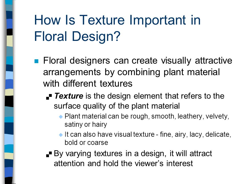 How Is Texture Important in Floral Design