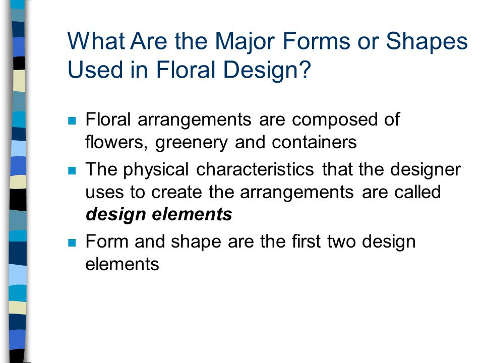 What Are the Major Forms or Shapes Used in Floral Design