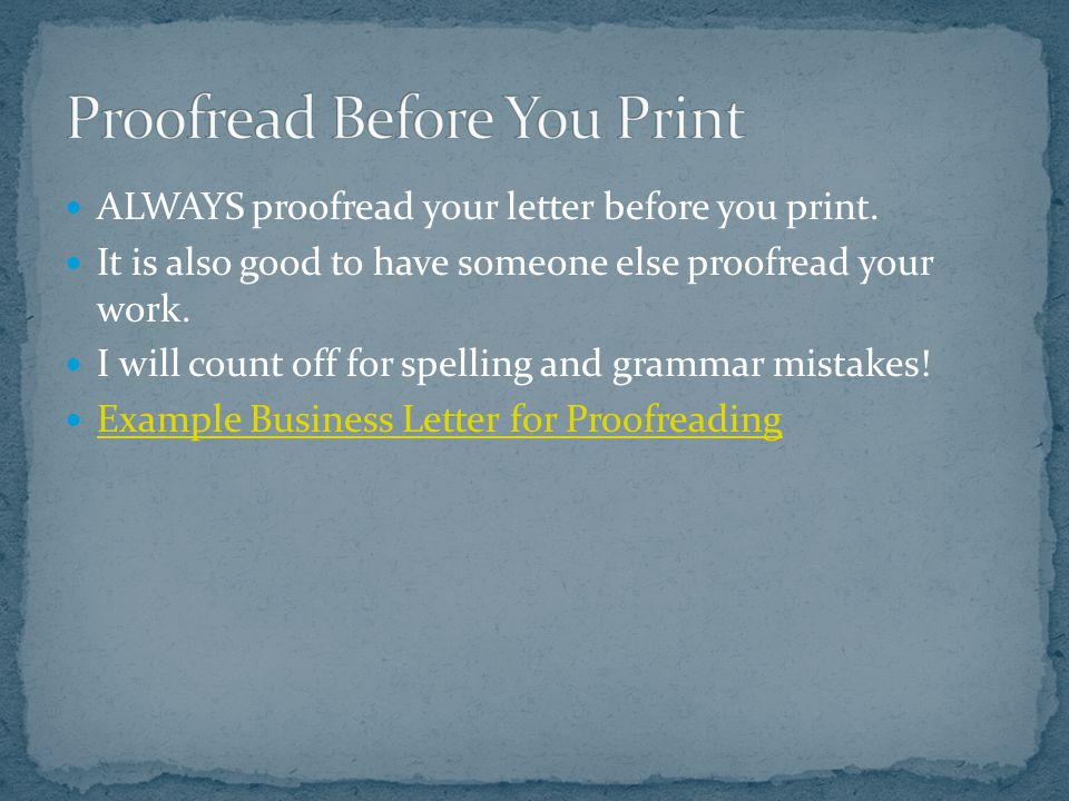 Proofread Before You Print