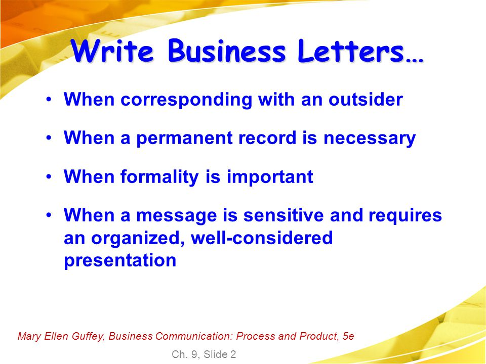 Write Business Letters…