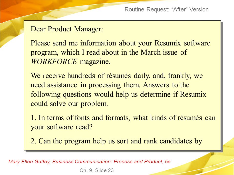2. Can the program help us sort and rank candidates by