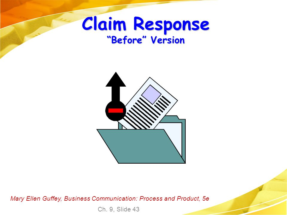 Claim Response Before Version