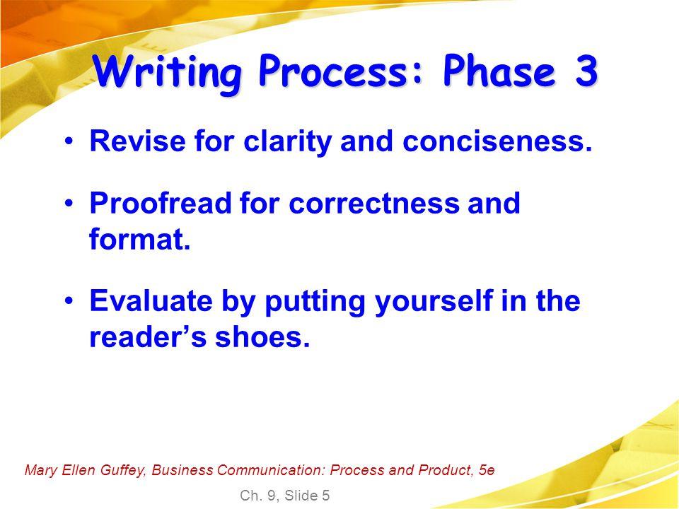 Writing Process: Phase 3