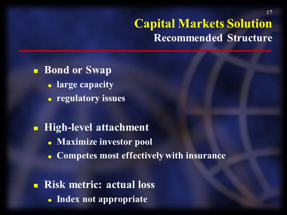Capital Markets Solution Recommended Structure