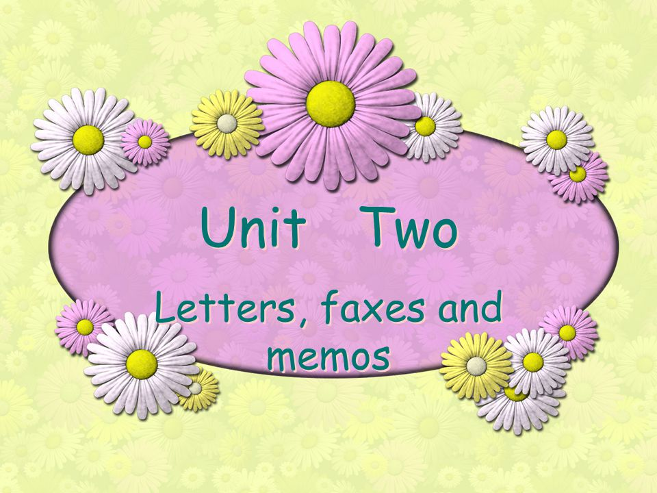 Letters, faxes and memos