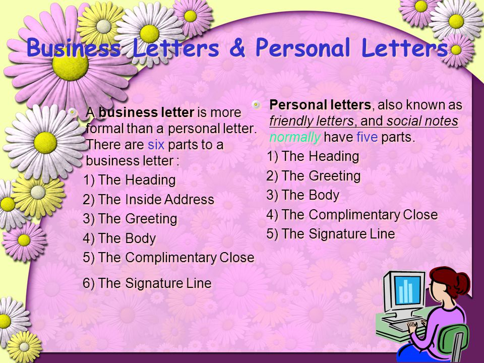 Business Letters & Personal Letters