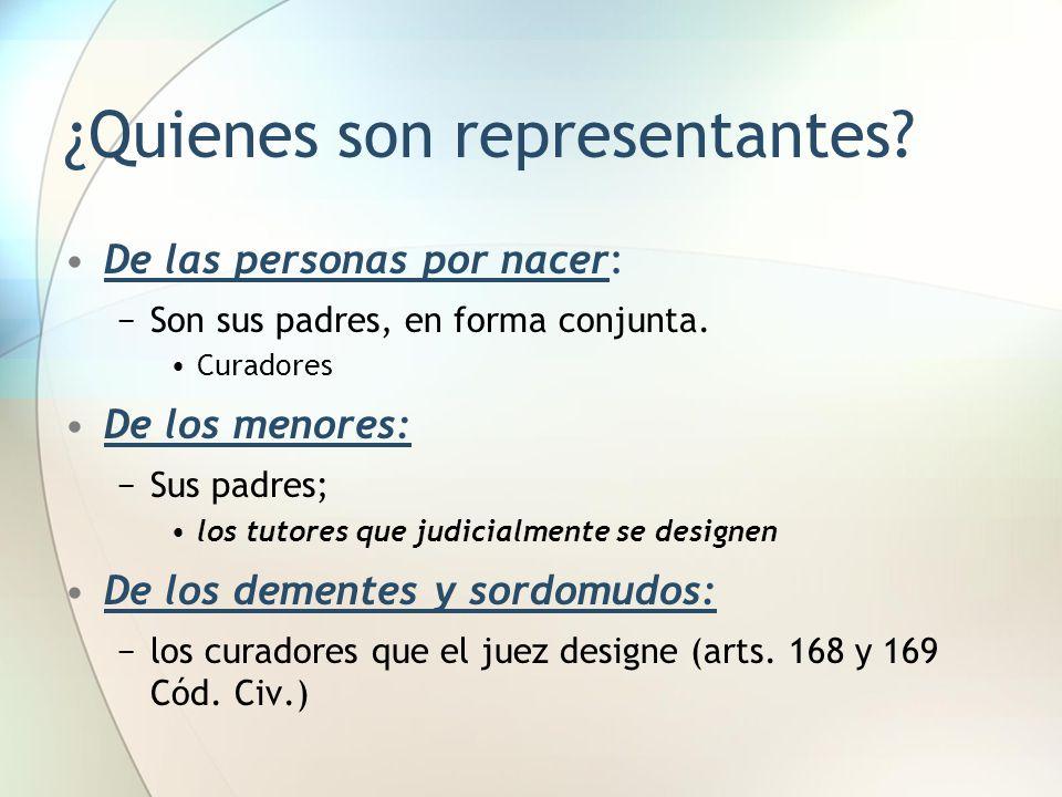 ¿Quienes son representantes