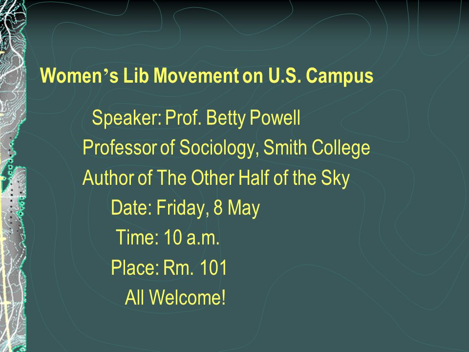 Women's Lib Movement on U.S. Campus