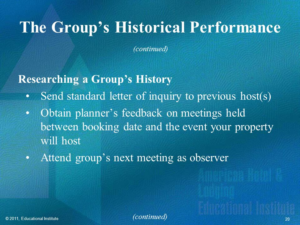 The Group's Historical Performance