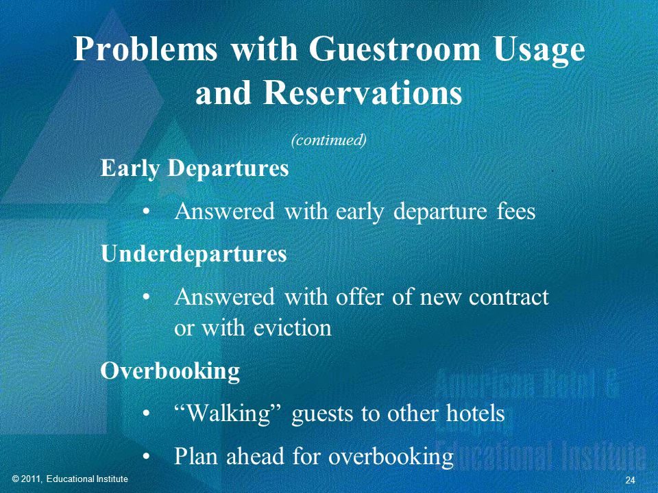 Guestroom Attrition Attrition refers to under-performance