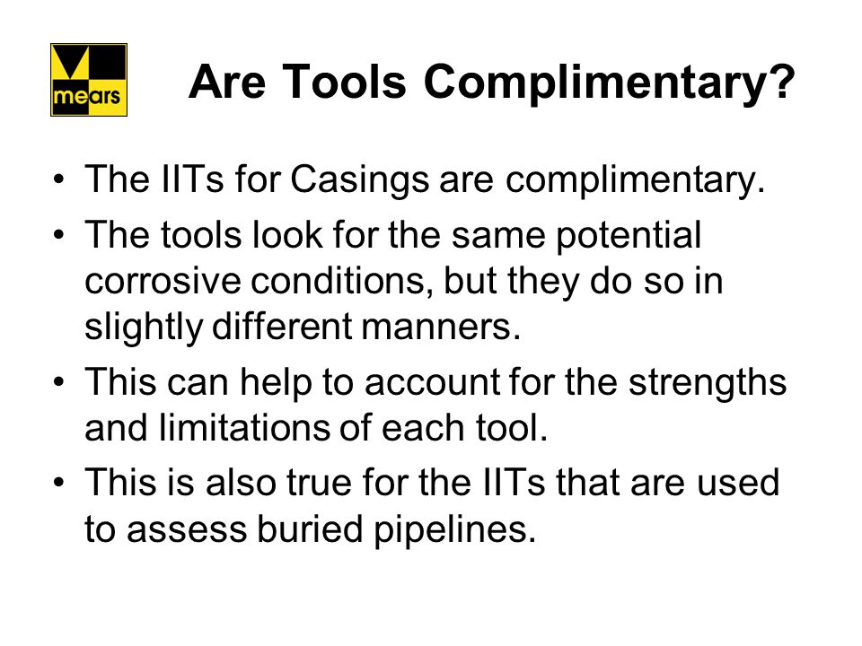 Are Tools Complimentary
