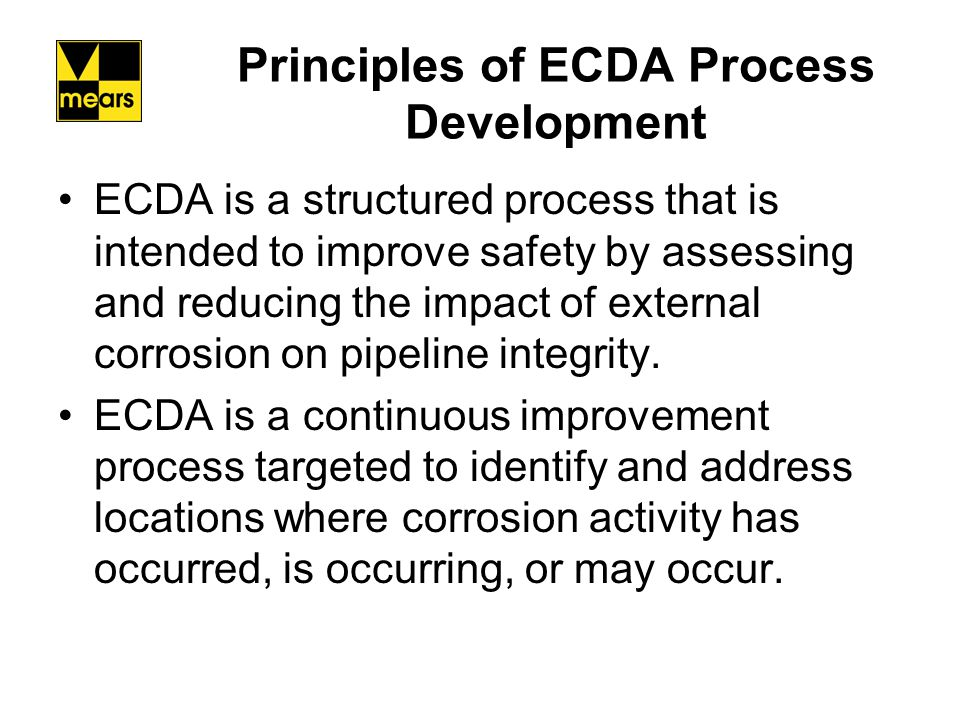 Principles of ECDA Process Development