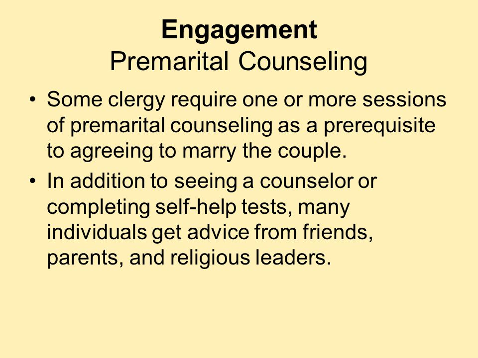Engagement Premarital Counseling