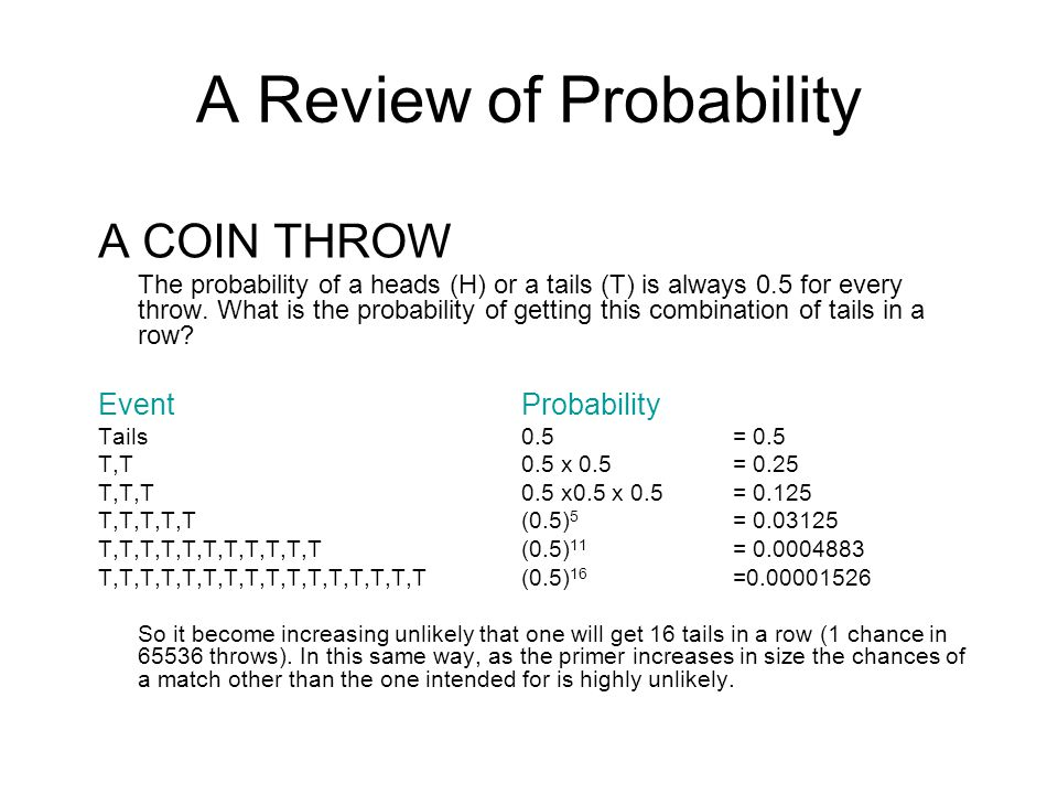 A Review of Probability