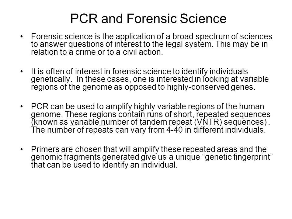 PCR and Forensic Science