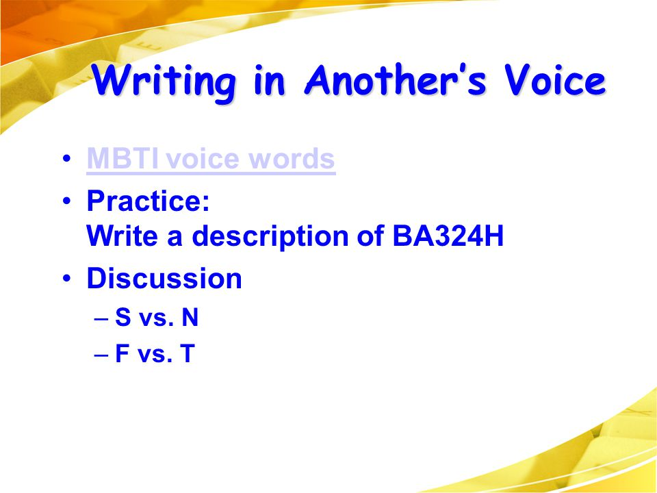 Writing in Another's Voice