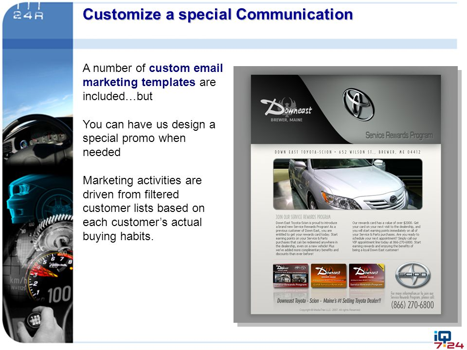 Customize a special Communication &&& communications