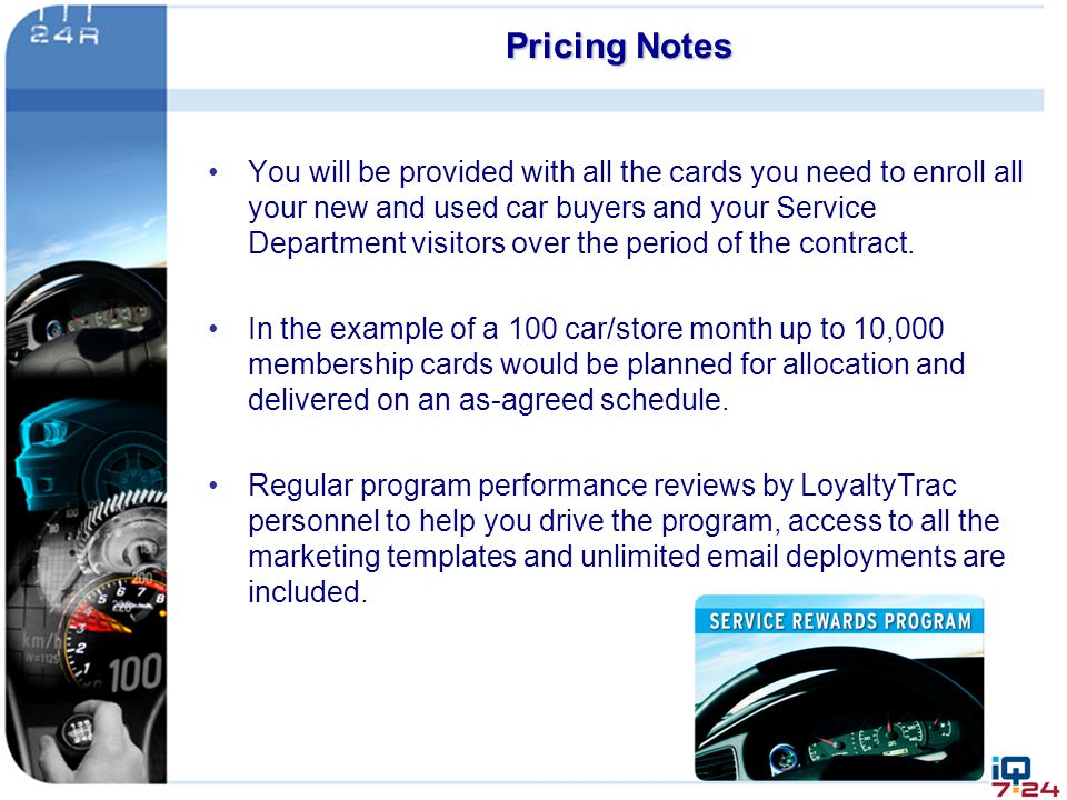 Pricing Notes