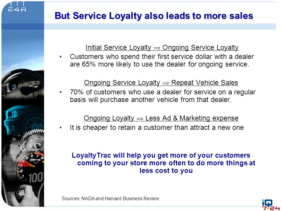 But Service Loyalty also leads to more sales