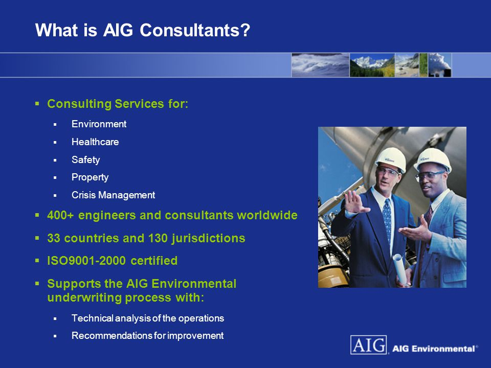 What is AIG Consultants