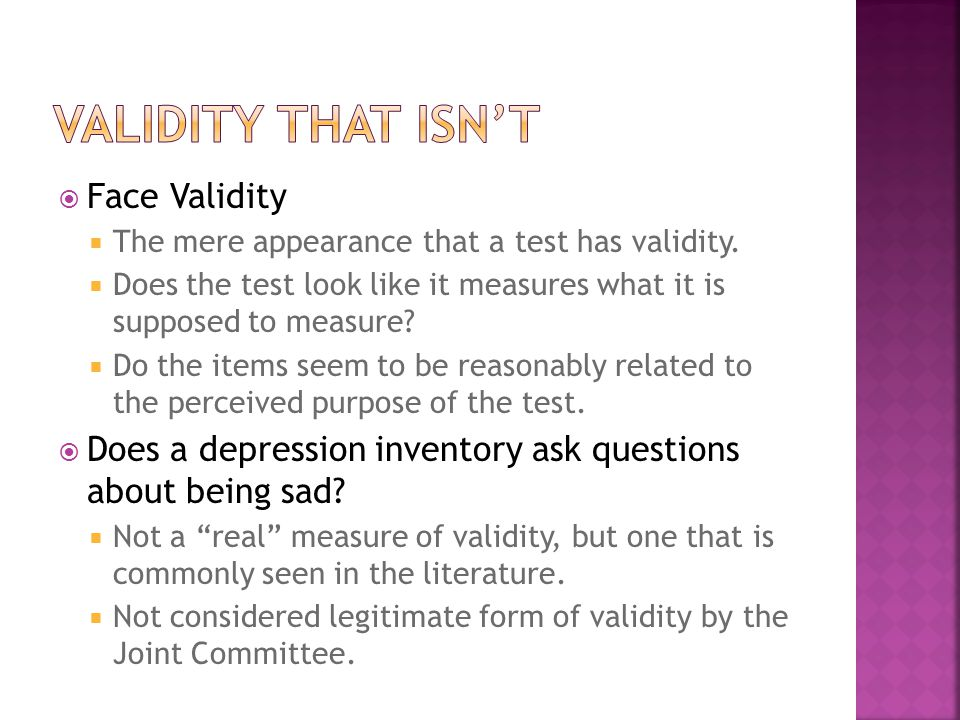 Validity That Isn't Face Validity
