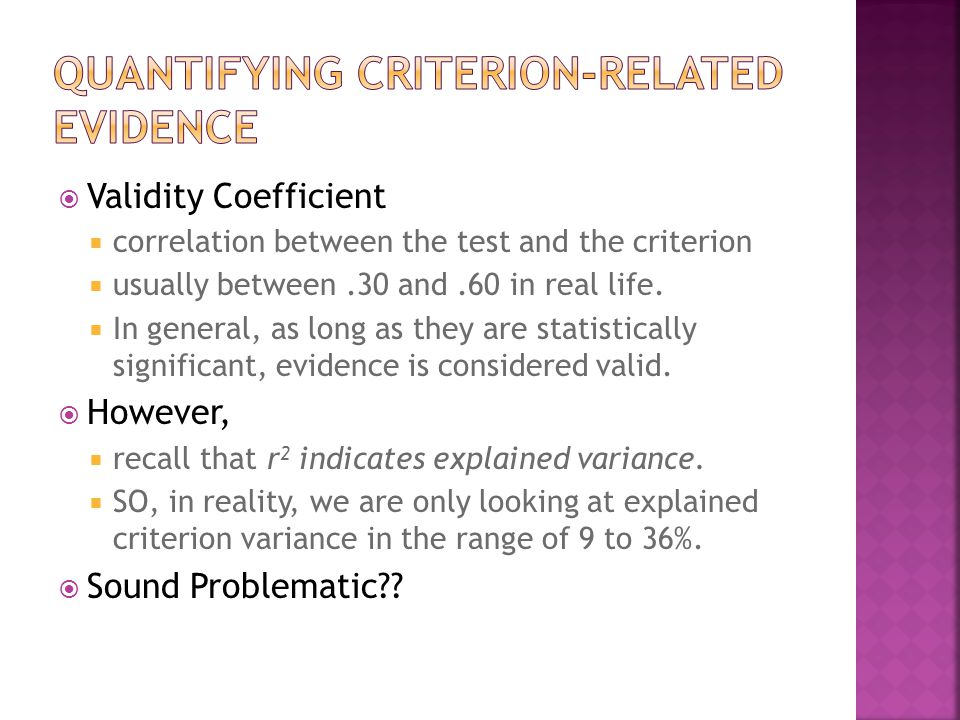 Quantifying Criterion-Related Evidence