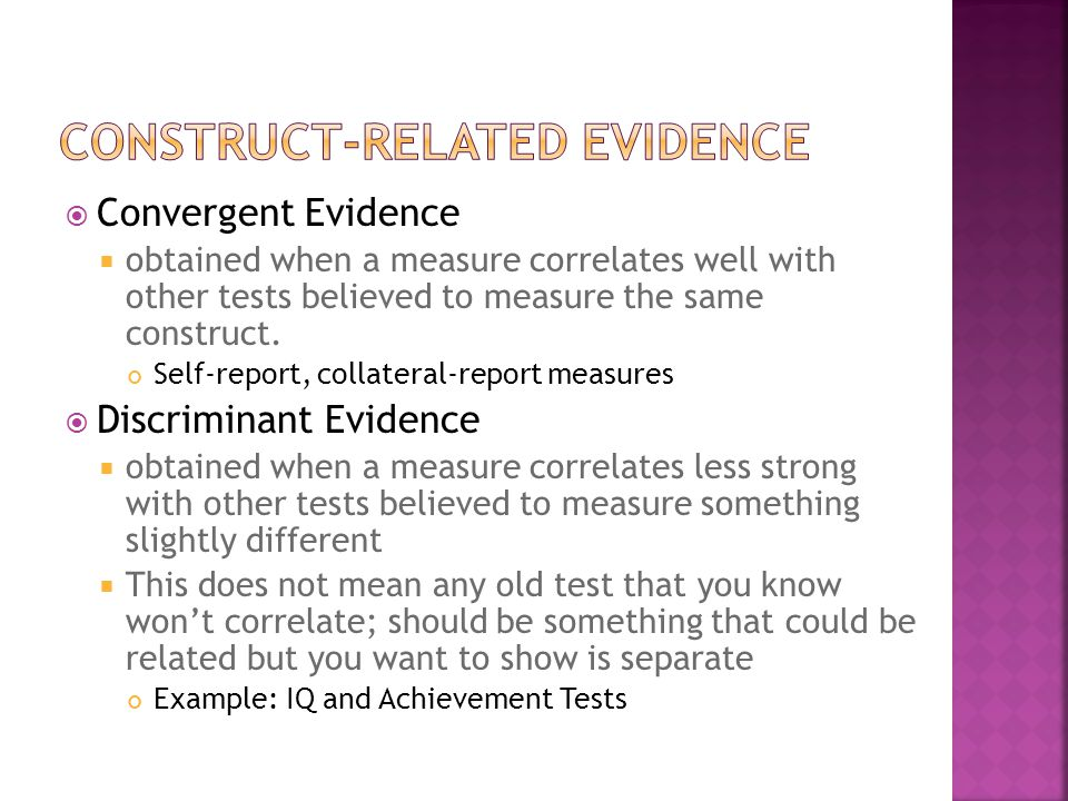 Construct-Related Evidence