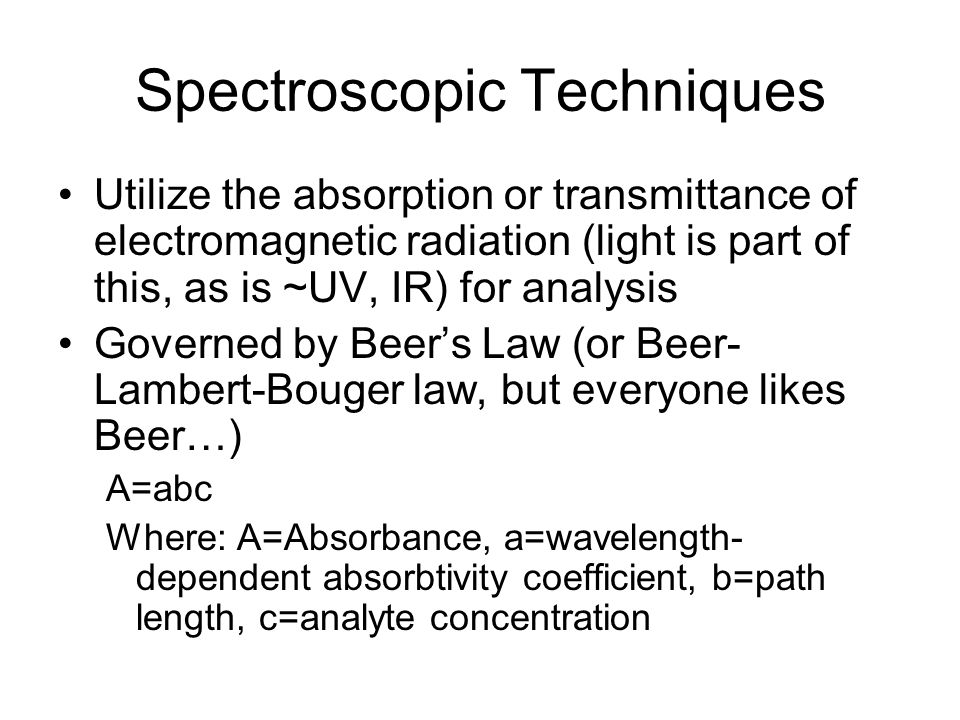 Spectroscopic Techniques
