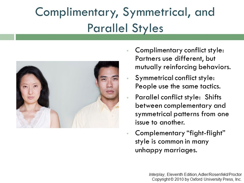 Complimentary, Symmetrical, and Parallel Styles