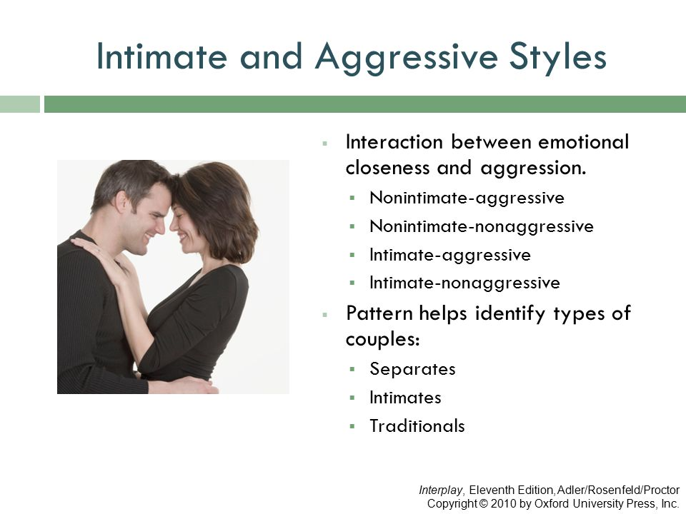 Intimate and Aggressive Styles