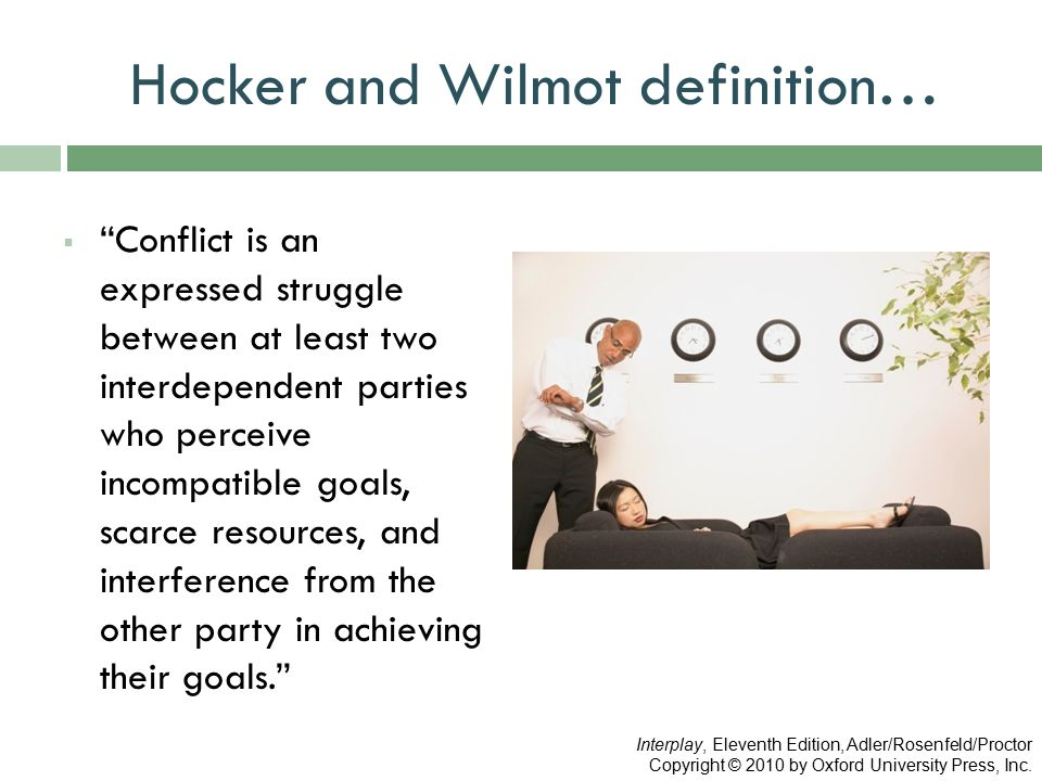 Hocker and Wilmot definition…