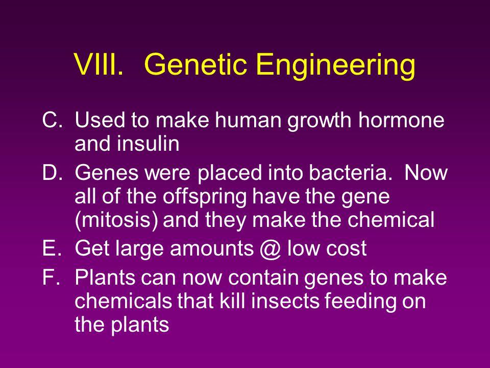 VIII. Genetic Engineering